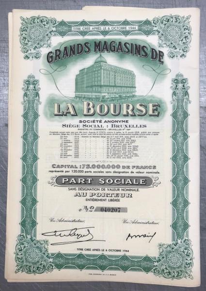30x Grands Magazins de la Bourse - Belgien 1950