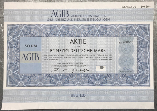 25x AGIB - 50 Deutsche Mark - 03/1996