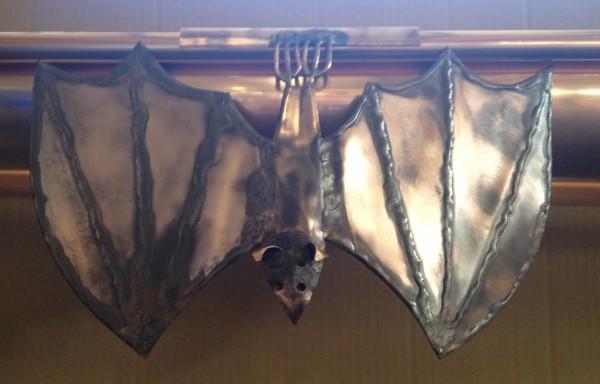 Kupfer Dachrinnenschmuck - Fledermaus