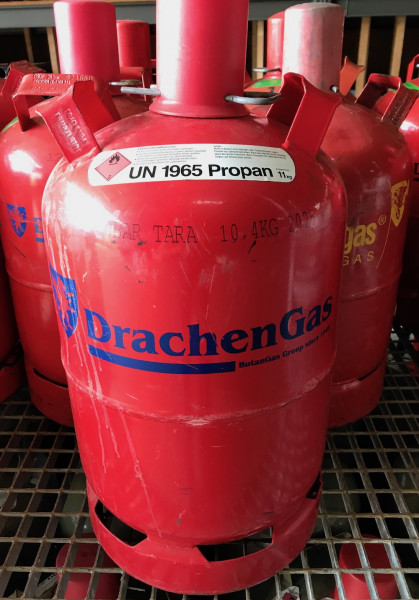 Propan-Gas 11 kg im Tausch gegen Drachen-Gas Leerflasche
