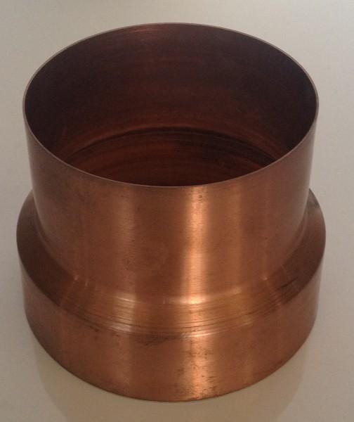 Kupfer Regenrohrmuffe reduziert 100/87 mm