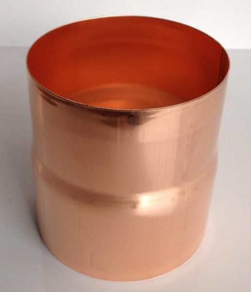 Kupfer Regenrohrmuffe 100 mm