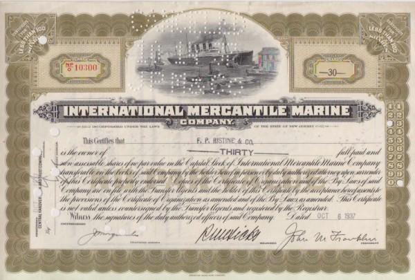 11x International Mercantile Marine Company