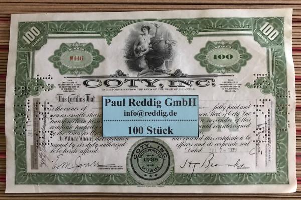 100x Coty Inc. (100 Shares) 1930er