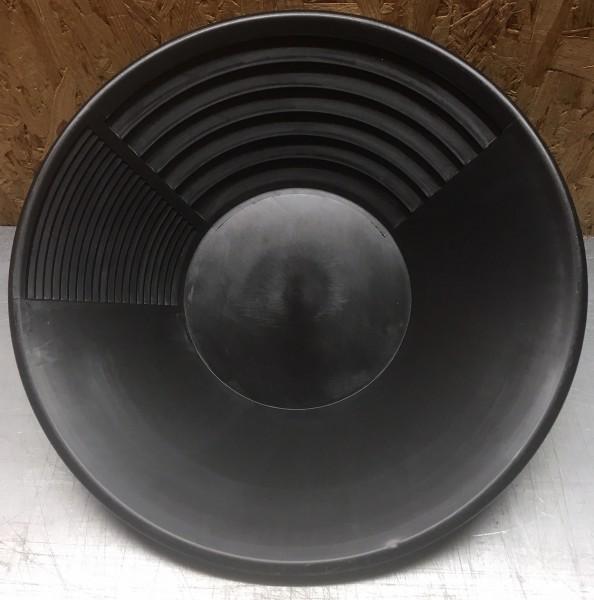 """Goldwaschpfanne """"groß"""" 38cm Durchmesser (15"""") schwarz"""