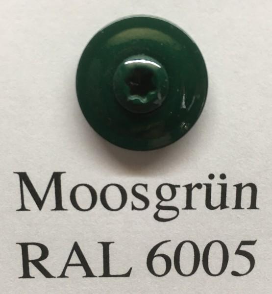 50 Spenglerschrauben moosgrün 4,5 x 35 mm (RAL 6005)