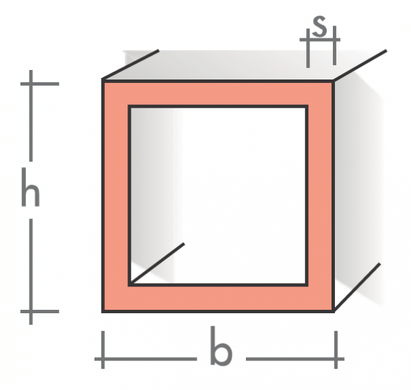 Quadratrohr 20x20x1,5 mm 1500 mm pressblank