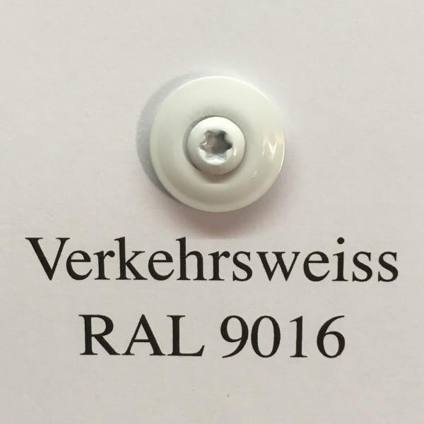 50 Spenglerschrauben verkehrsweiss 4,5 x 35 mm (RAL 9016)
