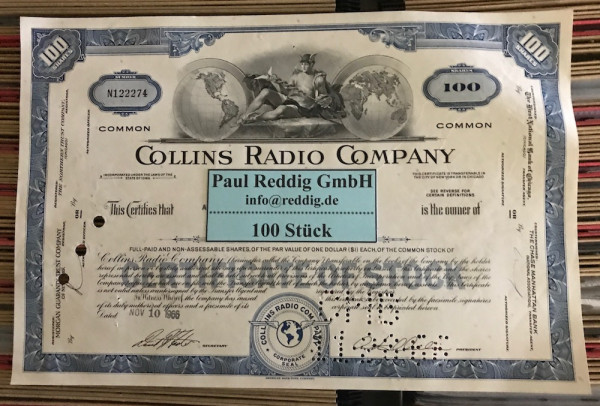 100x Collins Radio Company (100 Shares)