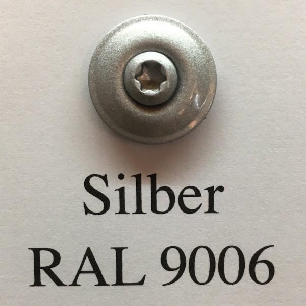50 Spenglerschrauben silber 4,5 x 35 mm (RAL 9006)