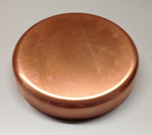Kupfer Pfostenkappe / Schale 120 mm glatt