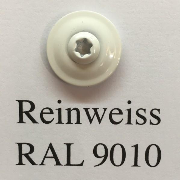 50 Spenglerschrauben reinweiss 4,5 x 35 mm (RAL 9010)