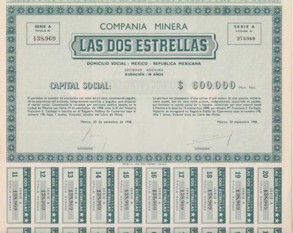 4x Compania Minera Las Dos Estrellas