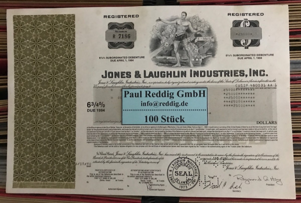 100x Jones & Laughlin Industries Inc. (diverse Dollar)