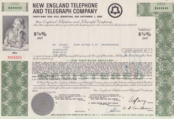 10x New England Telephone & Telegraph Company