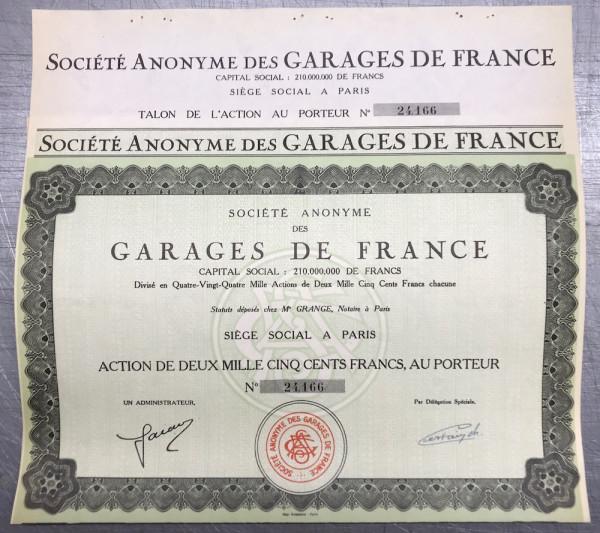 25x Garages de France - 2500 Francs - Paris