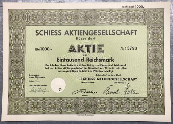 25x Schiess AG - 1000 Reichsmark - 1942