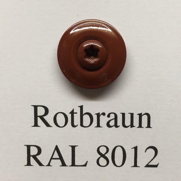 100 Spenglerschrauben rotbraun 4,5 x 35 mm (RAL 8012)