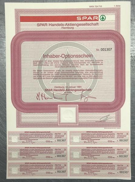 100x SPAR Handels-Aktiengesellschaft * 1er * WKN 724710