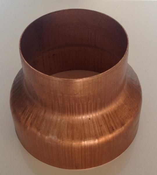Kupfer Regenrohrmuffe reduziert 100/76 mm