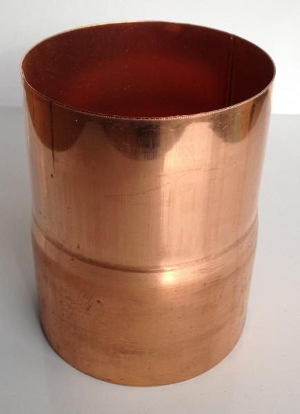 Kupfer Regenrohrmuffe 87 mm