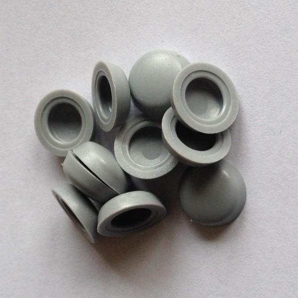 150 graue Kunststoff Abdeckkappen für LiKo-Schrauben