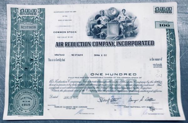 100x Air Reduction Company Inc.(100 Shares) 1970er