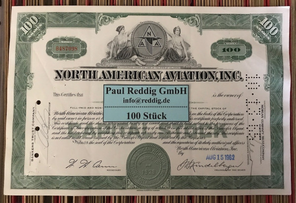 100x North American Aviation Inc. (100 Shares) 1960er