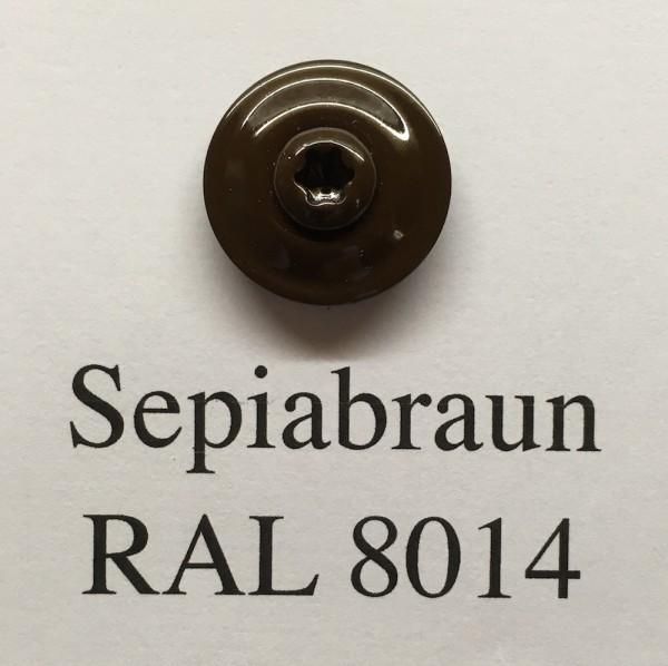 50 Spenglerschrauben sepiabraun 4,5 x 35 mm (RAL 8014)
