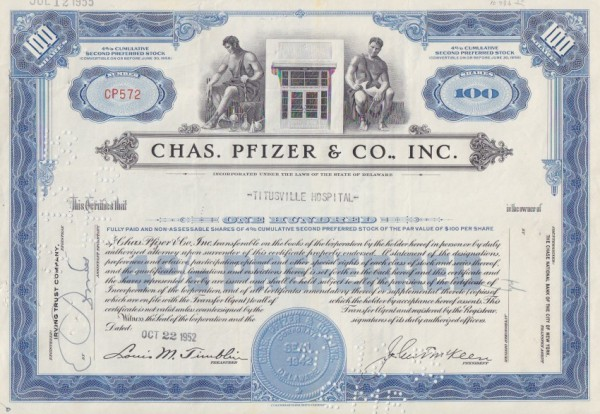 10x Chas. Pfizer & Co. Inc. (Viagra)