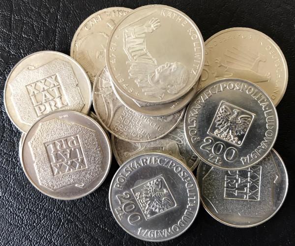 Anlageposten Münzen mit 62,50% Silberanteil