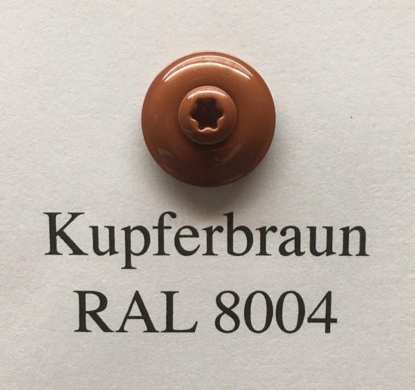 50 Spenglerschrauben kupferbraun 4,5 x 35 mm (RAL 8004)