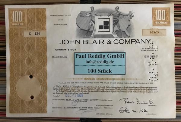 100x John Blair & Company (100 Shares) Karte