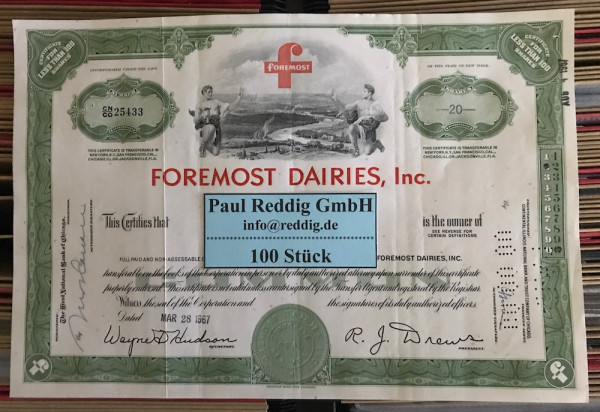 100x Foremost Dairies Inc. (<100 Shares)