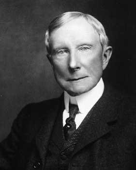 John D. Rockefeller - Originalunterschrift