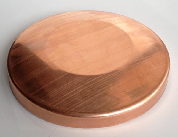 Kupfer Pfostenkappe / Schale 150 mm abgesetzt