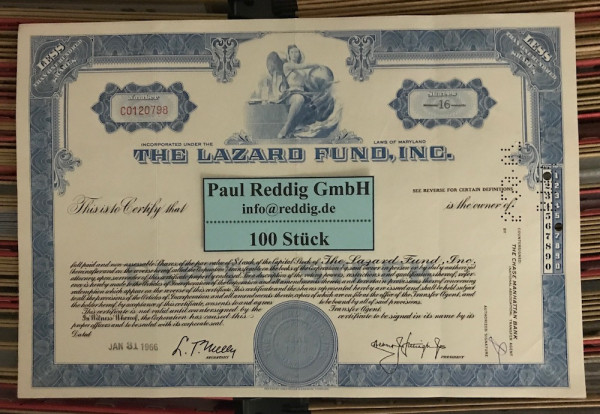 100x The Lazard Fund Inc. (<100 Shares)
