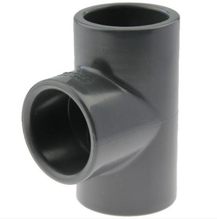 PVC T-Stück 32mm - 3fach Klebemuffe
