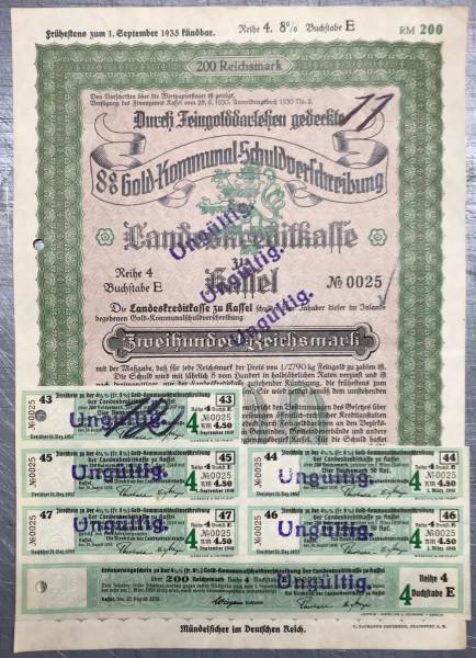 25x Landeskreditkasse Kassel - 200 Reichsmark - 1930