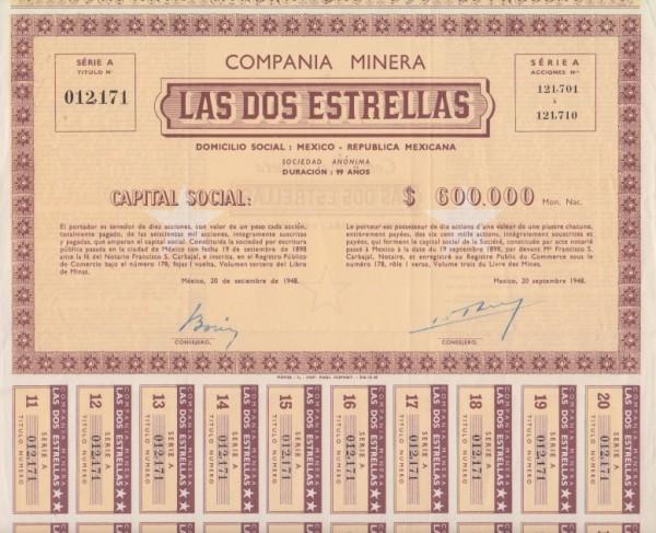 3x Compania Minera Las Dos Estrellas