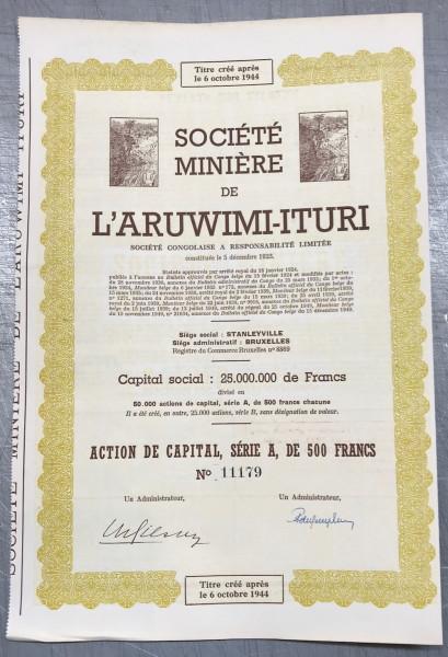 25x Société Miniére de L'Aruwimi-Ituri 1949