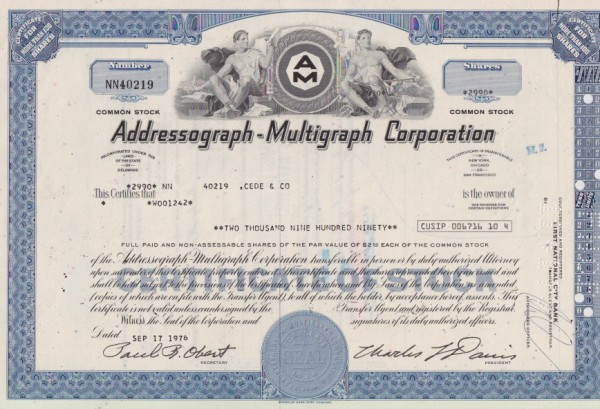 20x Addressograph-Multigraph Corporation