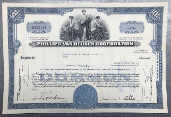 100x Phillips-van Heusen Corporation (<100 Shares) 1970er