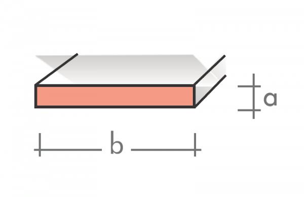 Flachstange 40x2 mm 1000 mm pressblank