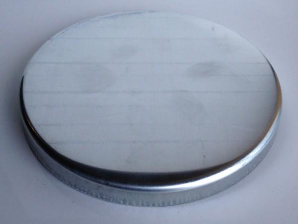 Zink Pfostenkappe / Schale 180 mm glatt