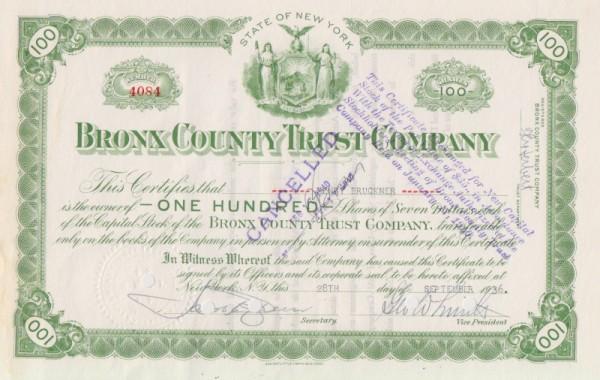 10x Bronx County Trust Company