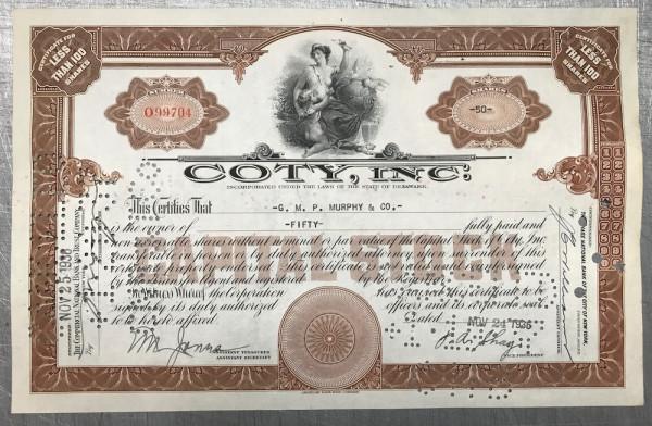 100x Coty Inc. (<100 Shares) 1930er