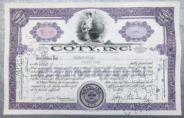 100x Coty Inc. (<100 Shares) 1940er