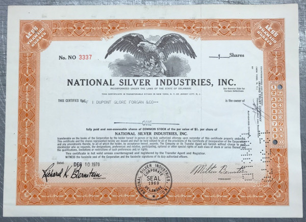 National Silver Industries