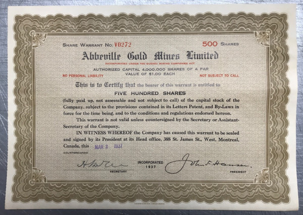 Abbeville Gold Mines